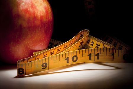 りんごを一筋の光で測定するためのテープです。
