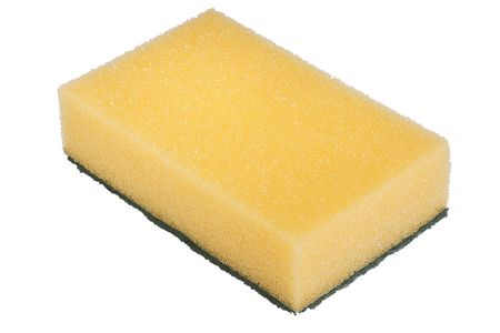 Synthetic yellow sponge for cleaning the room. 版權商用圖片