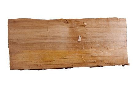 Old plank of wood. Isolated on white background. Stok Fotoğraf