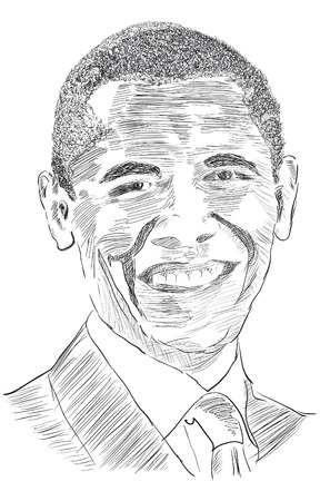 president: Drawing the United States President Obama