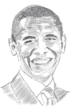 senate race: Drawing the United States President Obama