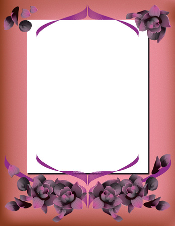 achtergrond met toppen van rozen in paarse tinten. Stock Illustratie