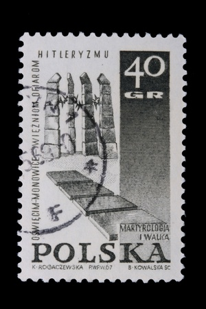 nazism: Poland - CIRCA 1967: A stamp is printed in Poland, Nazism, let out CIRCA in 1967.