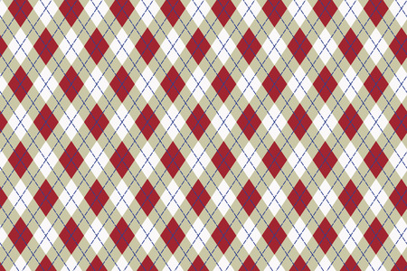 Scottish pattern as a background in red and gray shades.  Vector