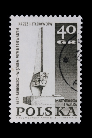 nazis: Poland - CIRCA 1967: A stamp is printed in Poland, By the Nazis, let out CIRCA in 1967.