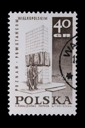 wielkopolskie: Poland - CIRCA 1968: A stamp is printed in Poland, Wielkopolskie, let out CIRCA in 1968. Stock Photo