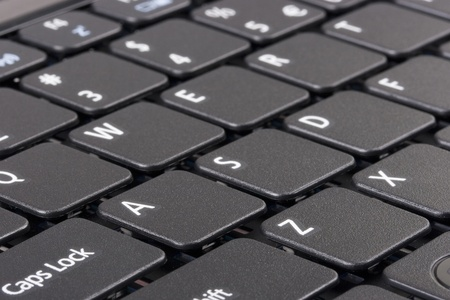 klawiatura: The keyboard of a personal laptop computer.