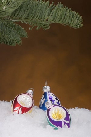 Holiday decorations for Christmas trees in the new year. Stock Photo - 8401618