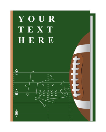 ball field: Vector cover of the book on the topic of fooball, can be implemented by a summary, playbook, etc.