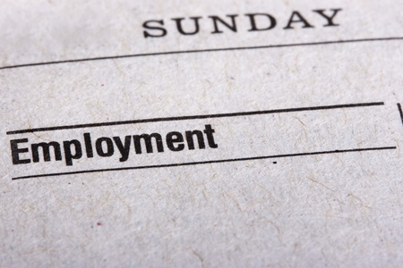 Categories in the Sunday newspaper - the Employment.
