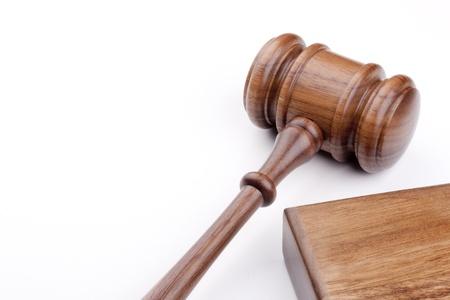 Houten hamer gebruikt in de rechtbank en in veilingen.