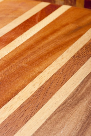 Wood Clad kitchen board for processing food.