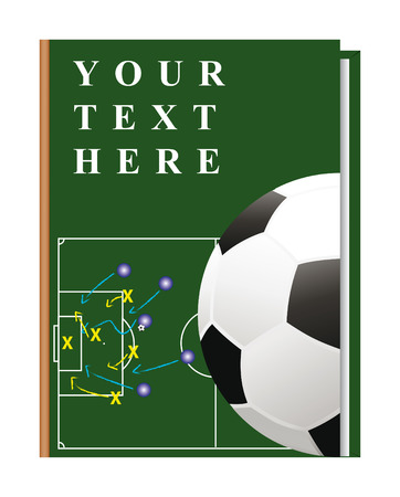 implemented: Vector cover of the book on the topic of fooball, can be implemented by a summary, playbook, etc.
