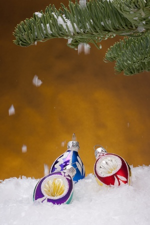 Holiday decorations for Christmas trees in the new year. Stock Photo - 8481965
