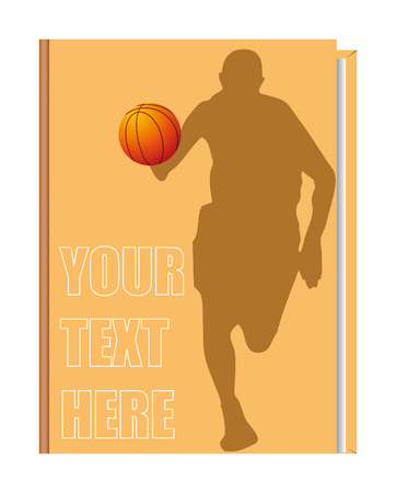 Vector cover of the book on the topic of basketball, can be implemented by a summary, playbook, etc.