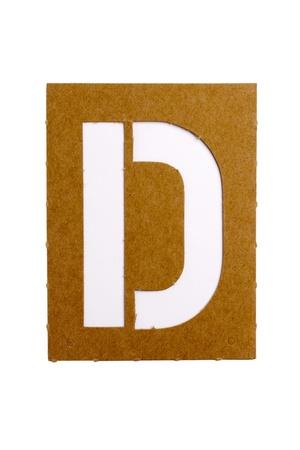Cardboard stencil letter  photo
