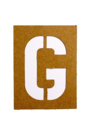 Cardboard stencil letter