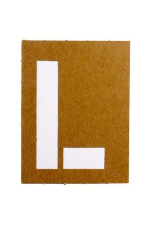 Cardboard stencil letter  Stock Photo - 8512086