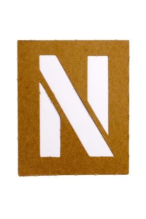 Kartonnen stencil brief Stockfoto