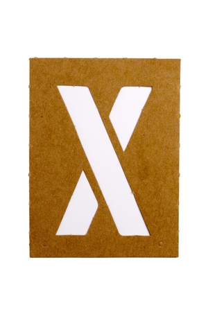 Kartonnen stencil letter