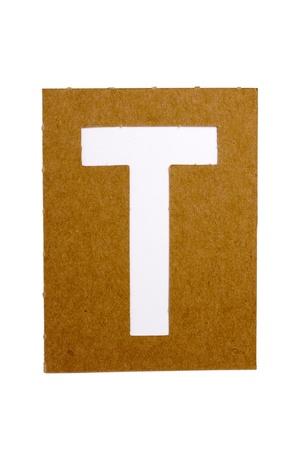 letter: Cardboard stencil letter  Stock Photo