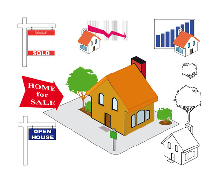 Collection of illustrations on the subject Real Estate.