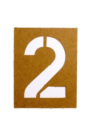 Kartonnen stencil nummer
