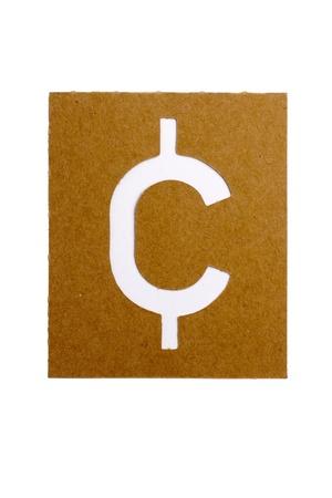 Cardboard stencil symbol