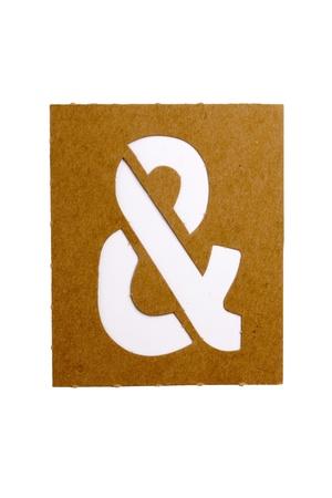 Kartonnen stencilsymbool