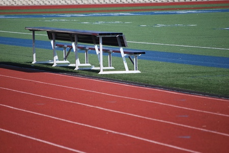 Treadmill for athletic events at the stadium.