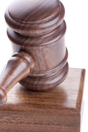 Wooden hammer used in court and in auctions. Stock Photo - 8520027