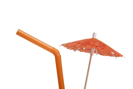 cocktail umbrella: Paper umbrella and tubule to decorate the glasses with a cocktail.