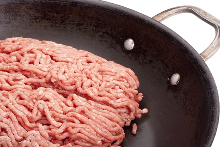 Freshly ground meat for cooking meat delicacies. photo