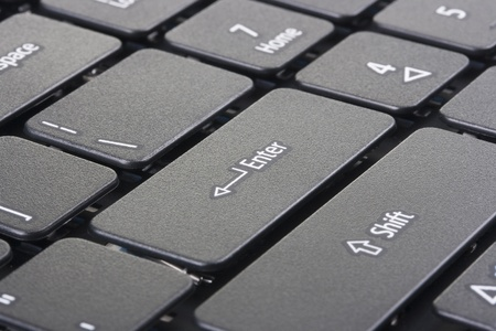 The keyboard of a personal laptop computer.