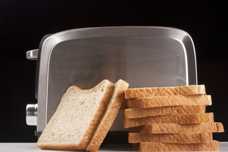 A toaster and a special bread for toast. photo