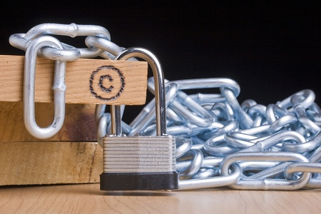lock symbol: Copyright symbol next to a lock and a chain.