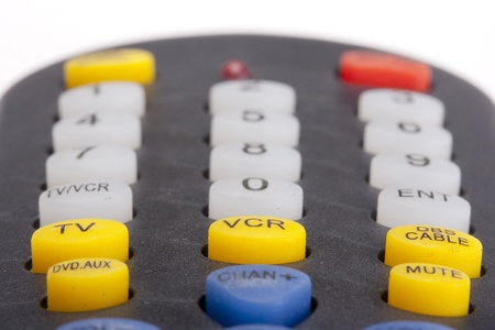 Control button electronic universal remote for the TV. Imagens
