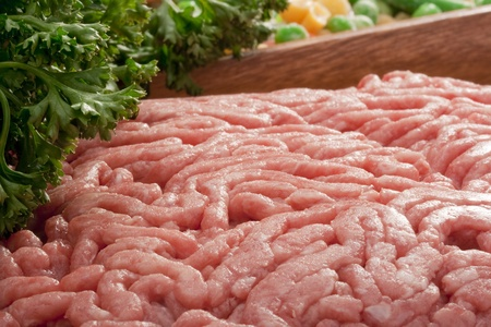 Freshly ground meat for cooking meat delicacies. Stock Photo - 8753667