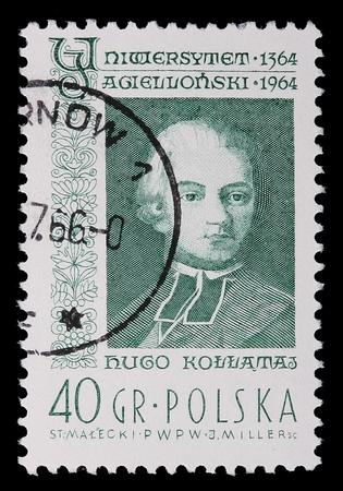 Poland - CIRCA 1964: A stamp is printed in Poland, Hugo Kollataj, CIRCA in 1964. Stock fotó