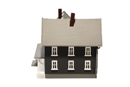 Layout simulating residential building on a white background. Stock Photo - 9077095