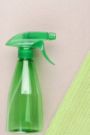 Plastic spray for dispersion of water of hectare. photo