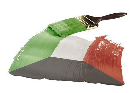 kuwait: Concept of paint strokes with the colors of the flag of Kuwait.