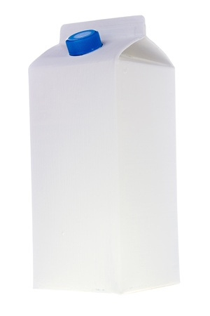 White milk or juice carton box isolated on a white background.