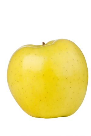 Golden delicious apple isolated on a white background. Stock Photo - 10032910