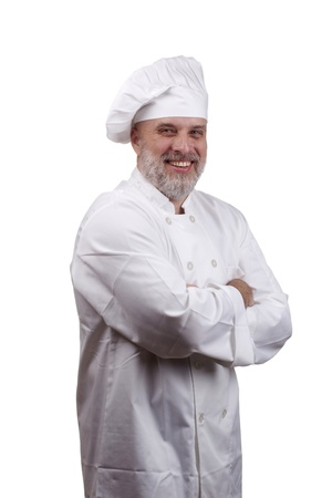 Portrait of a happy chef in a chef Stock Photo - 10212873