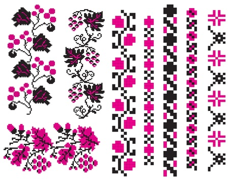 used ornament: Ornament used in Ukrainian folk crafts, embroidery and painting. Illustration