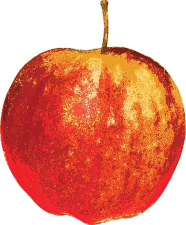 image of yellow-red apple design for design works Çizim