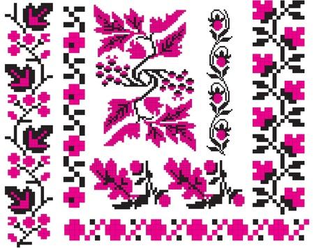 飾りはウクライナの民俗工芸、刺繍、絵画に使用されます。