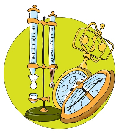 Equipment used in the study of weather.