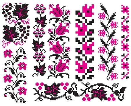 Ornament used in Ukrainian folk crafts, embroidery and painting. Vector illustration.